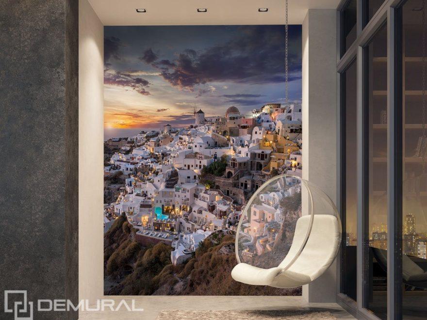 Häuser auf den Felsen - Die Magie der Welt - Fototapete