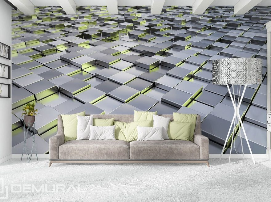 In der geometrischen Umgebung - Fototapete 3D
