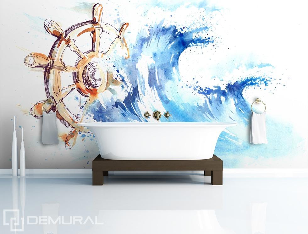 Ans Ruder! - Fototapete für Badezimmer