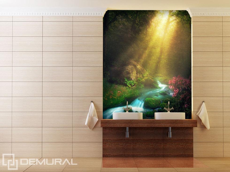 In der schönen Morgenstunde  - Fototapete für Badezimmer