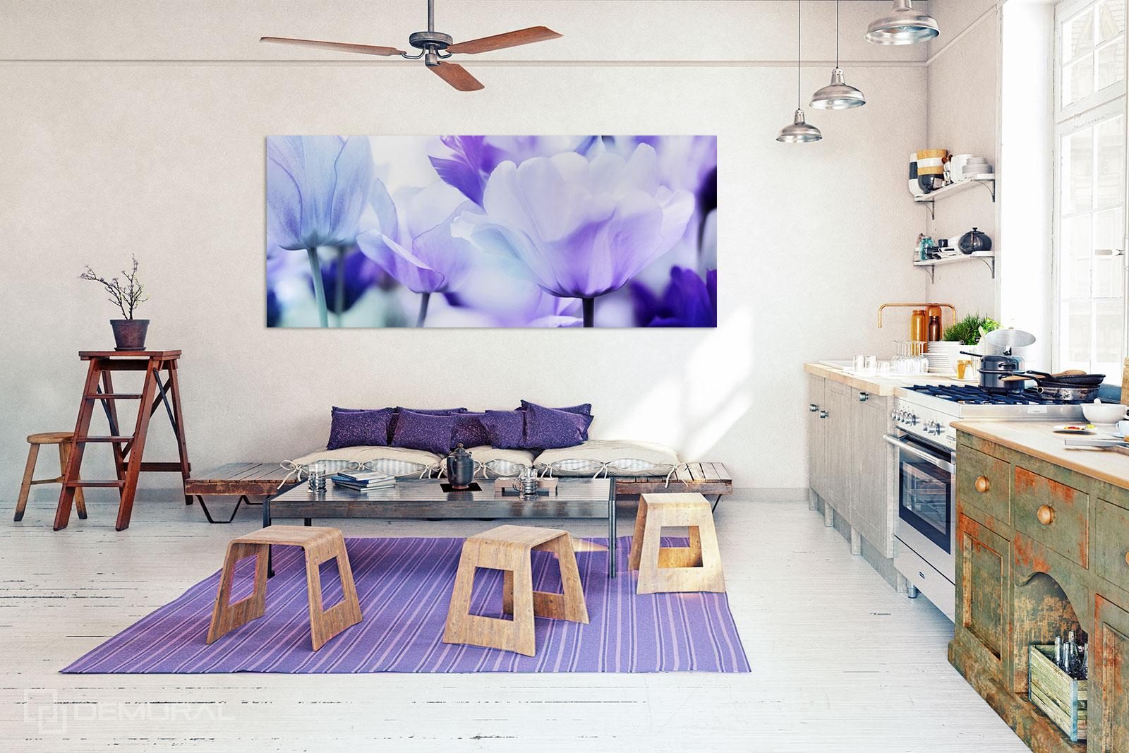 Bilder Lila Tulpen - Blider Blumen - Demural