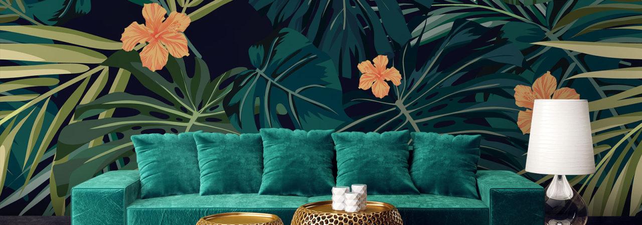 tropische Blätter - Demural