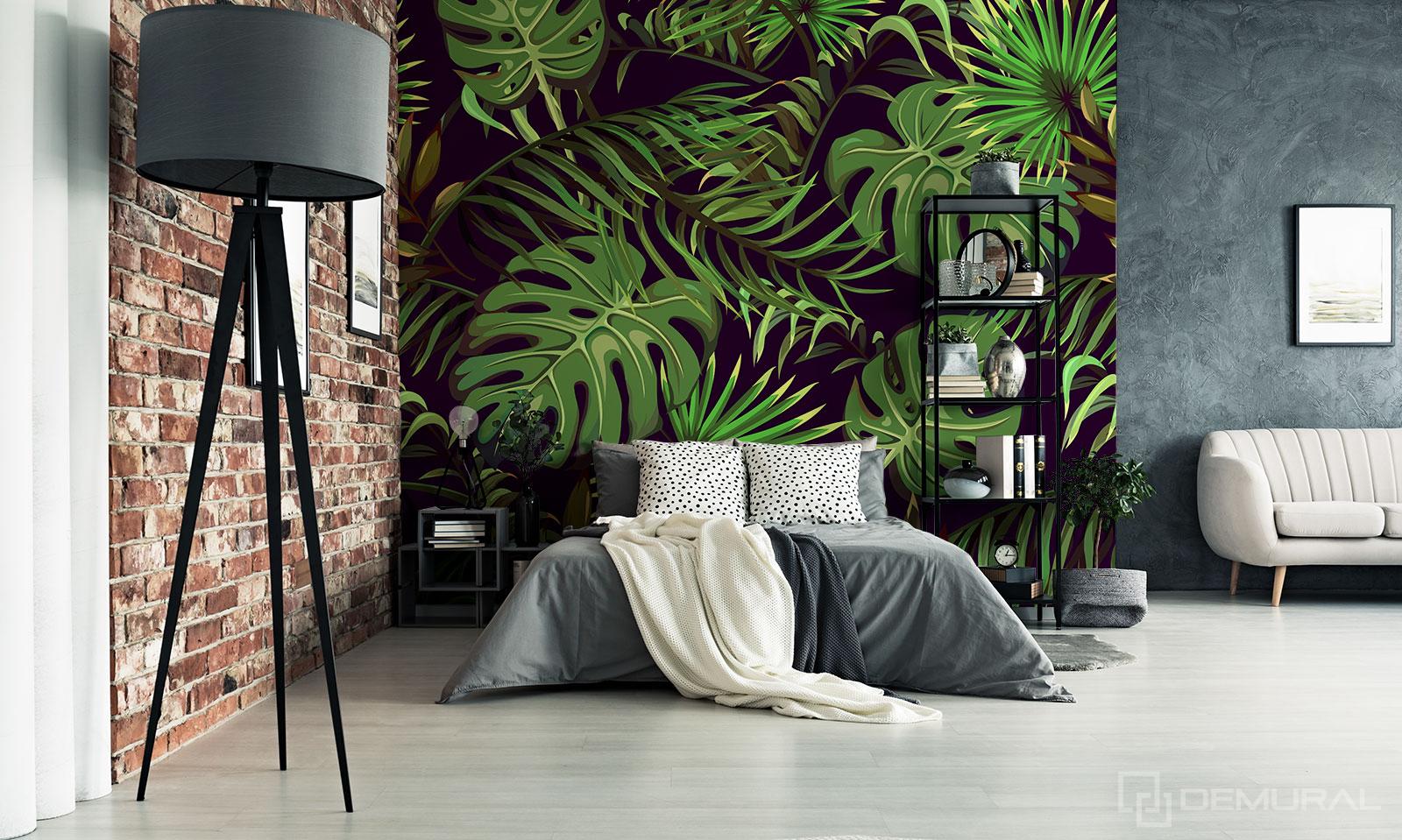 Fototapete ein geheimnisvoller Garten - tropischen Blätter - Demural