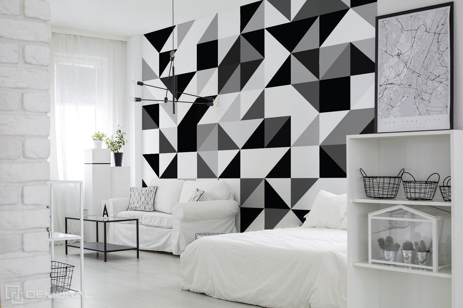 Fototapete Schwarz-Weiß-Formen - geometrisches Fototapete - Demural
