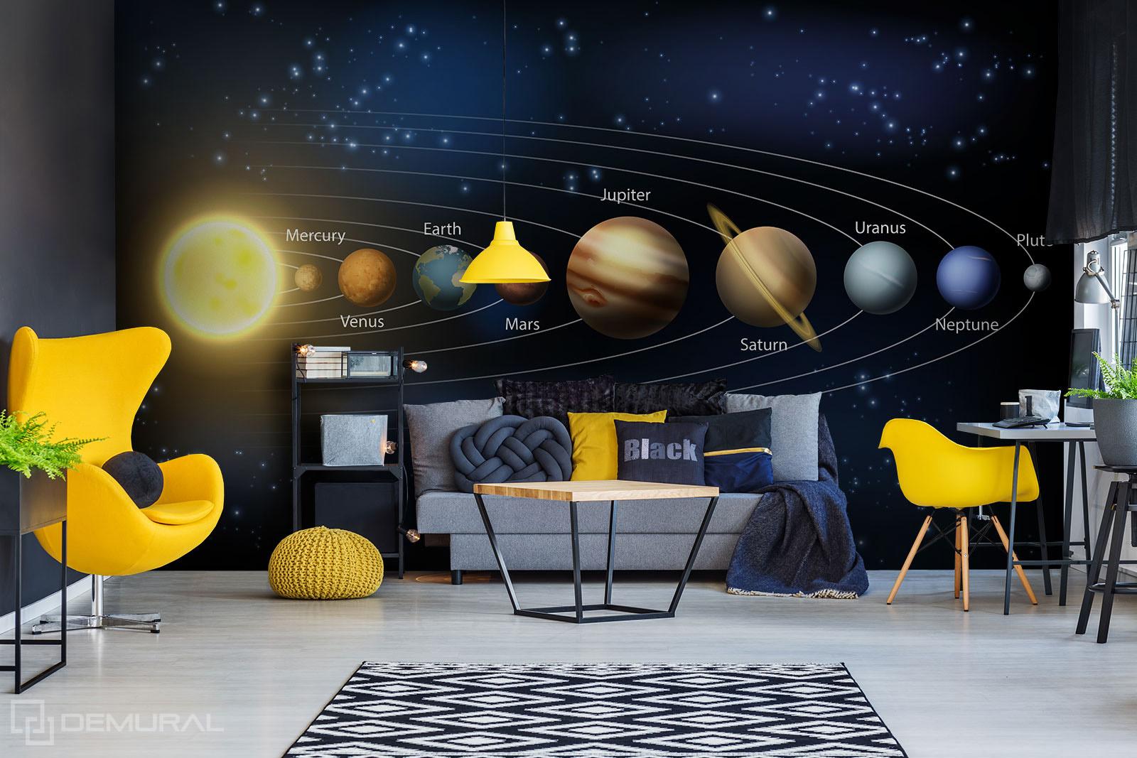 Photo wallapaper Solar System - Photo wallpaper cosmos - Demural