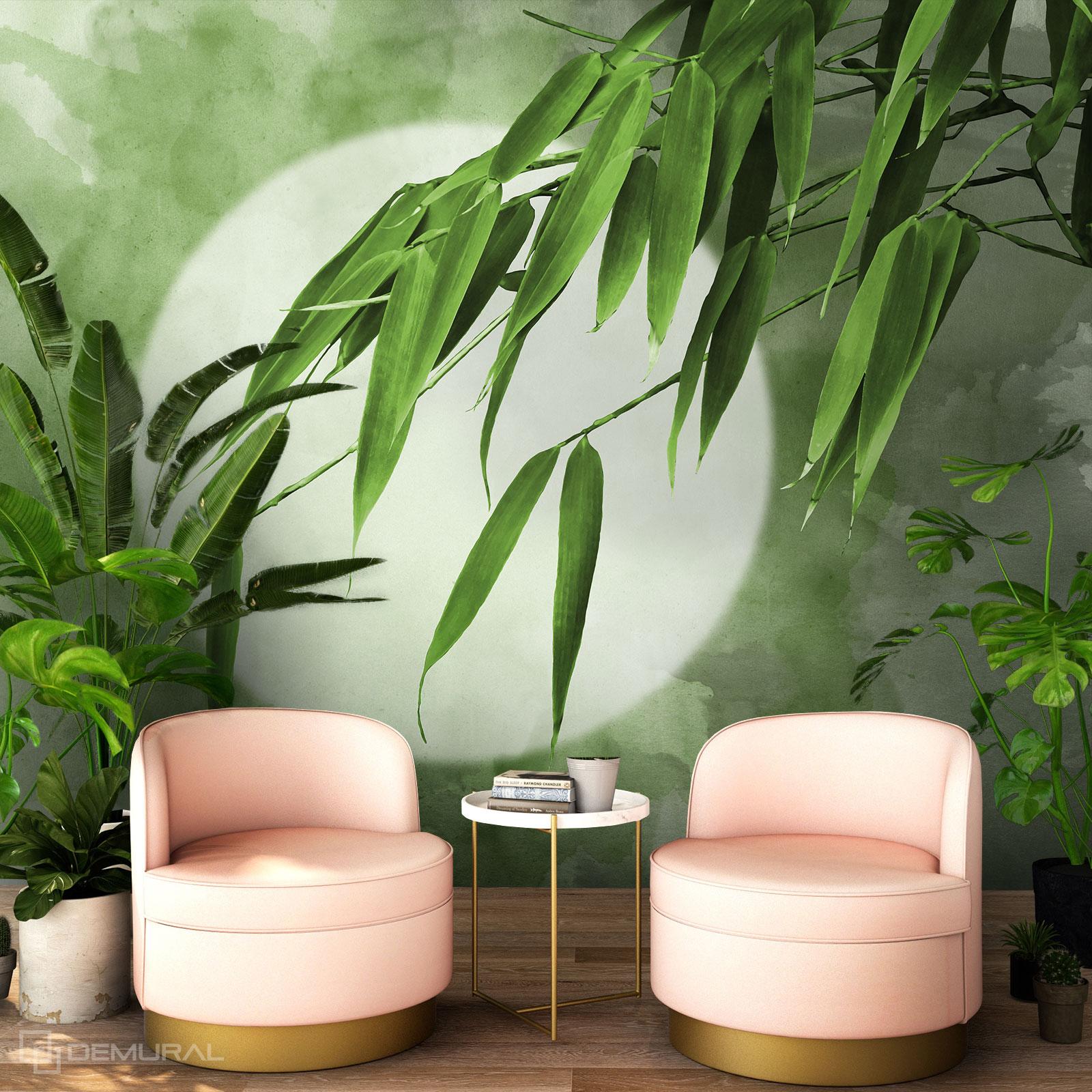 Fototapete Unter den Bambusblättern - Fototapete bambus