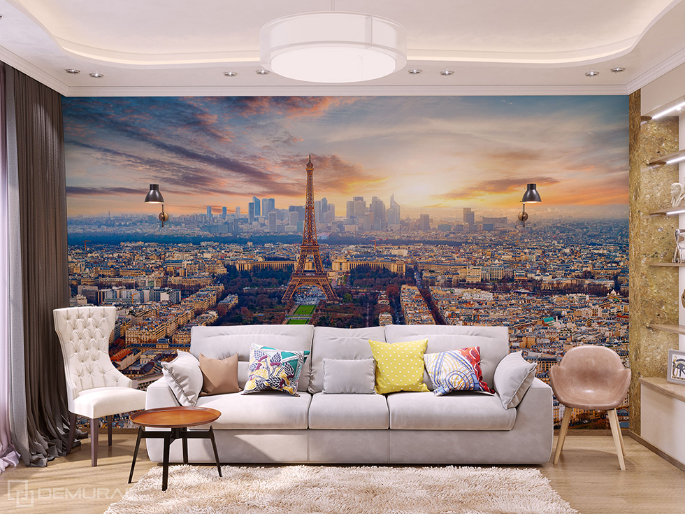 Fototapete Paris Abend - Fototapete mit Eiffelturm - Demural