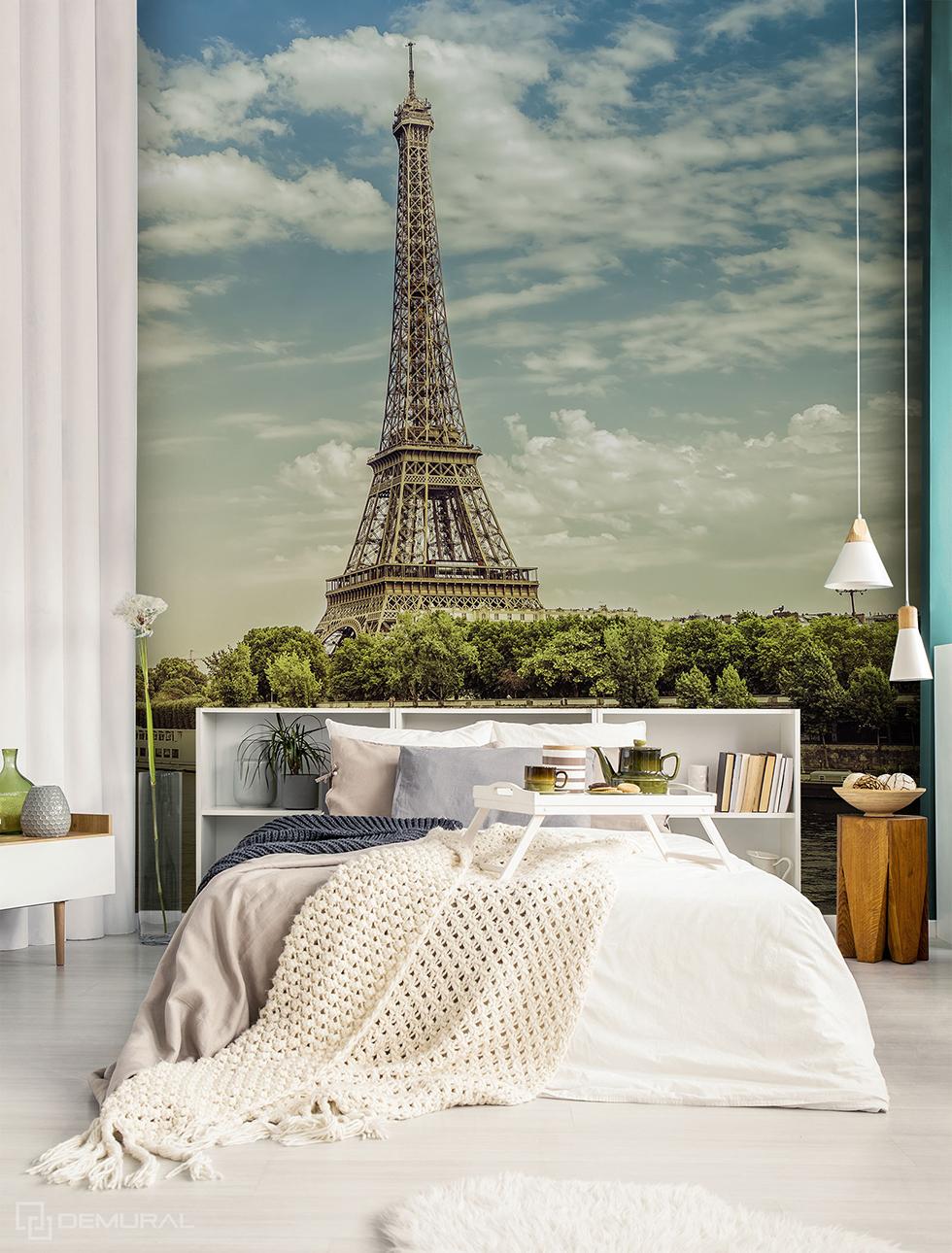 Fototapete Traum über der Seine - Fototapete mit Eiffelturm - Demural