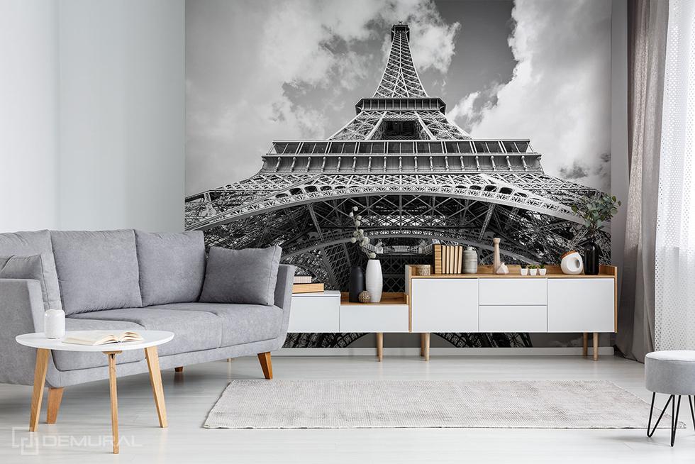 Fototapete Schwarzweiss-Eiffelturm - Fototapete mit Eiffelturm - Demural