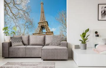 Fototapete mit Eiffelturm - Demural