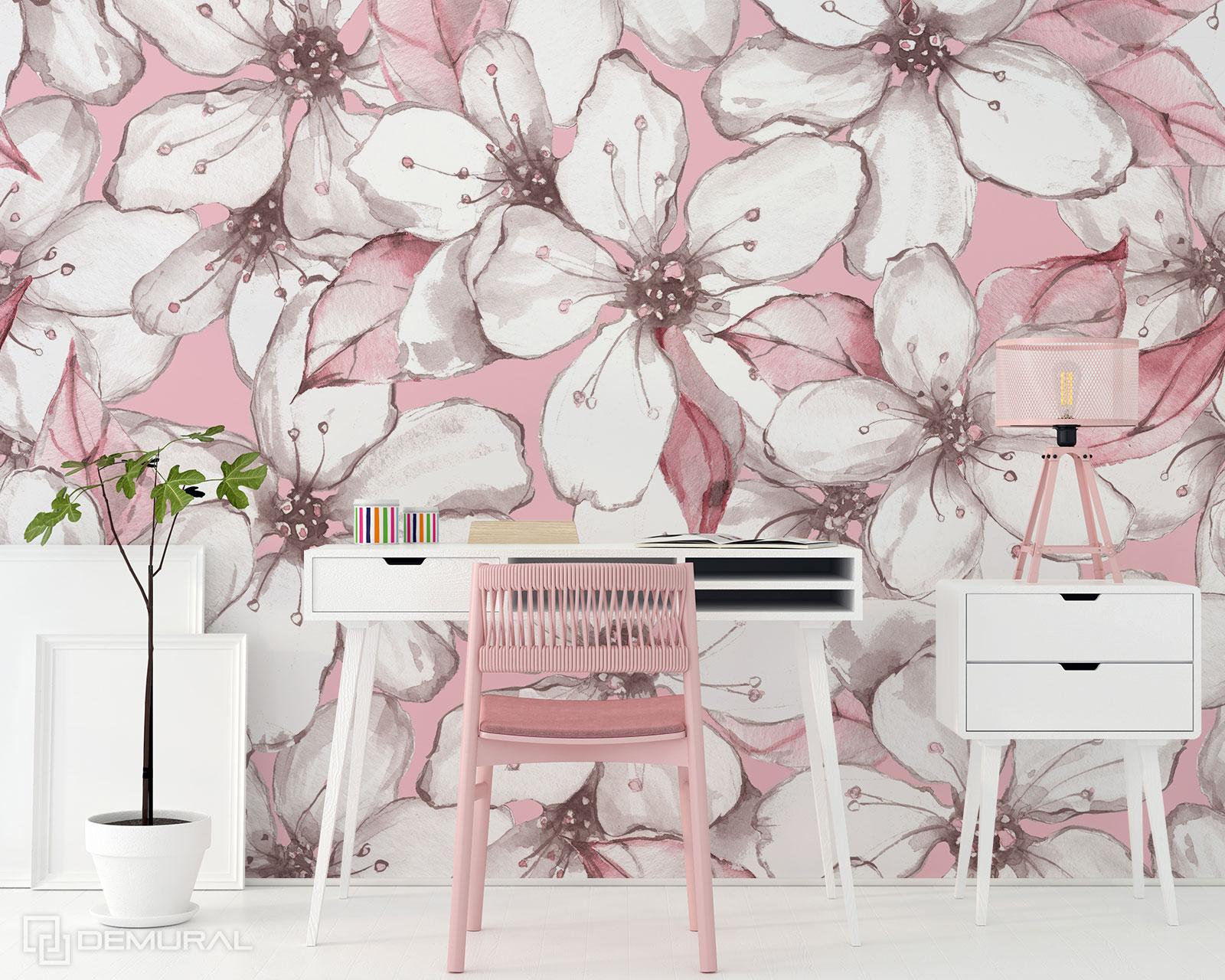 Fototapete Apfelblüten - rosa Fototapete - Demural