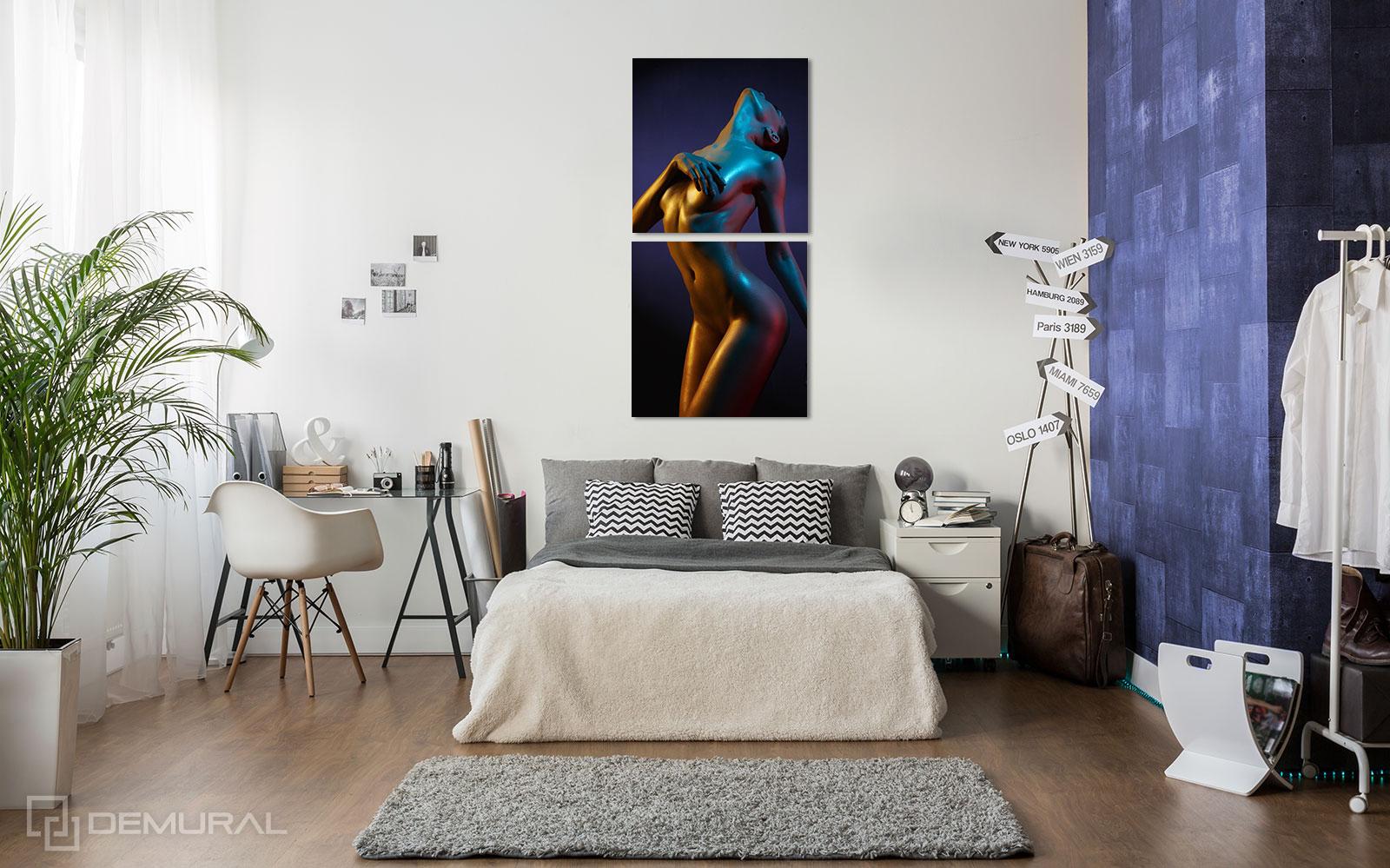 Bilder  Sinnliche Farben - Aktbild - Demural