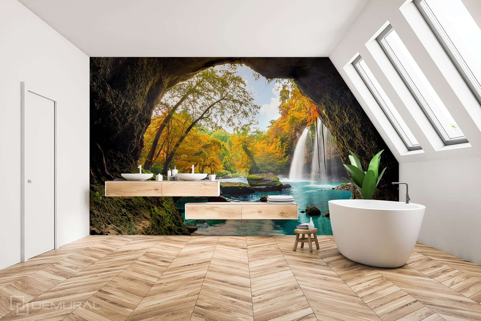 Fototapete Eine private Oase - Fototapete im Badezimmer - Demural