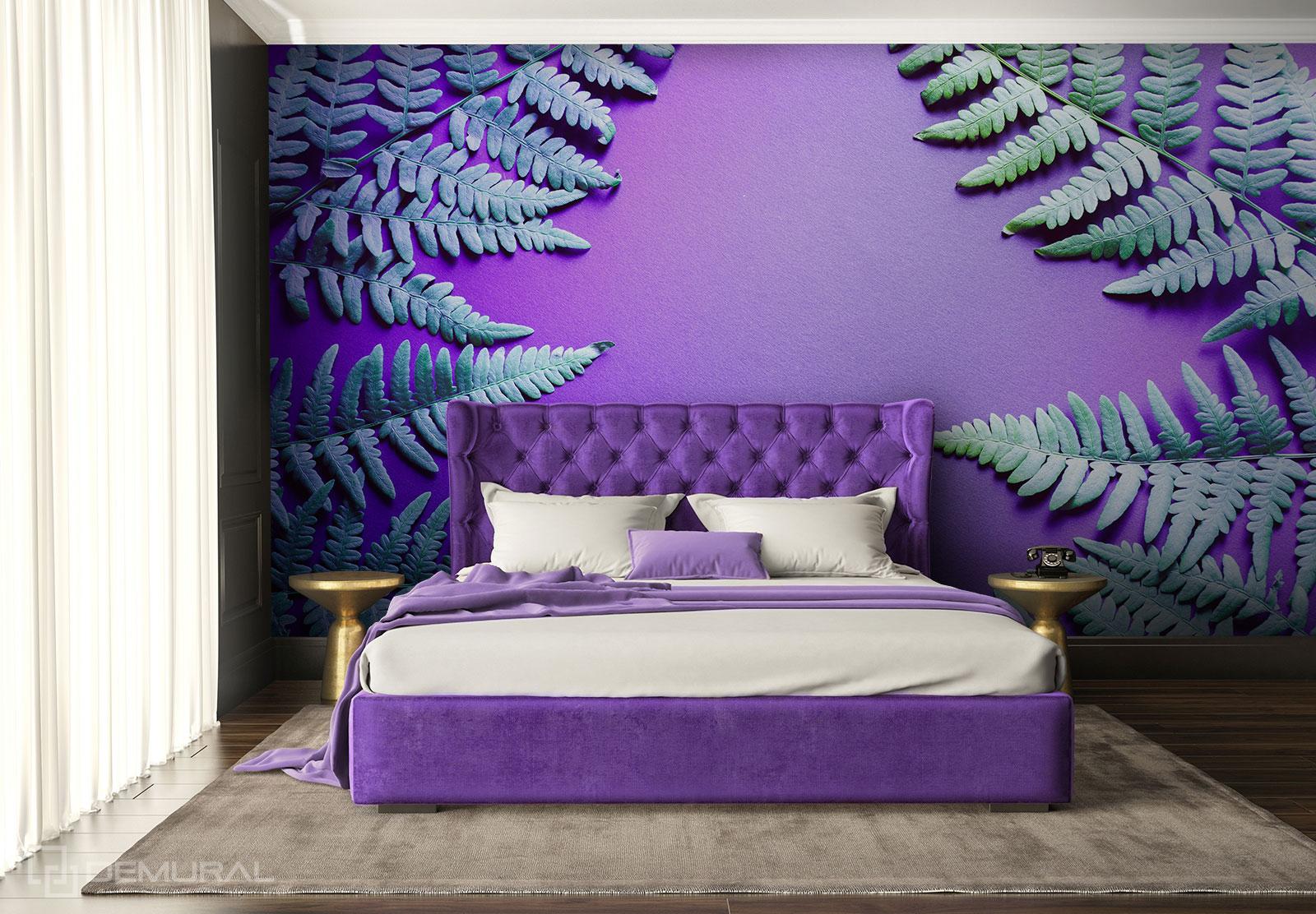 Fototapete Farn-Blume - Ultraviolett Fototapete - Demural
