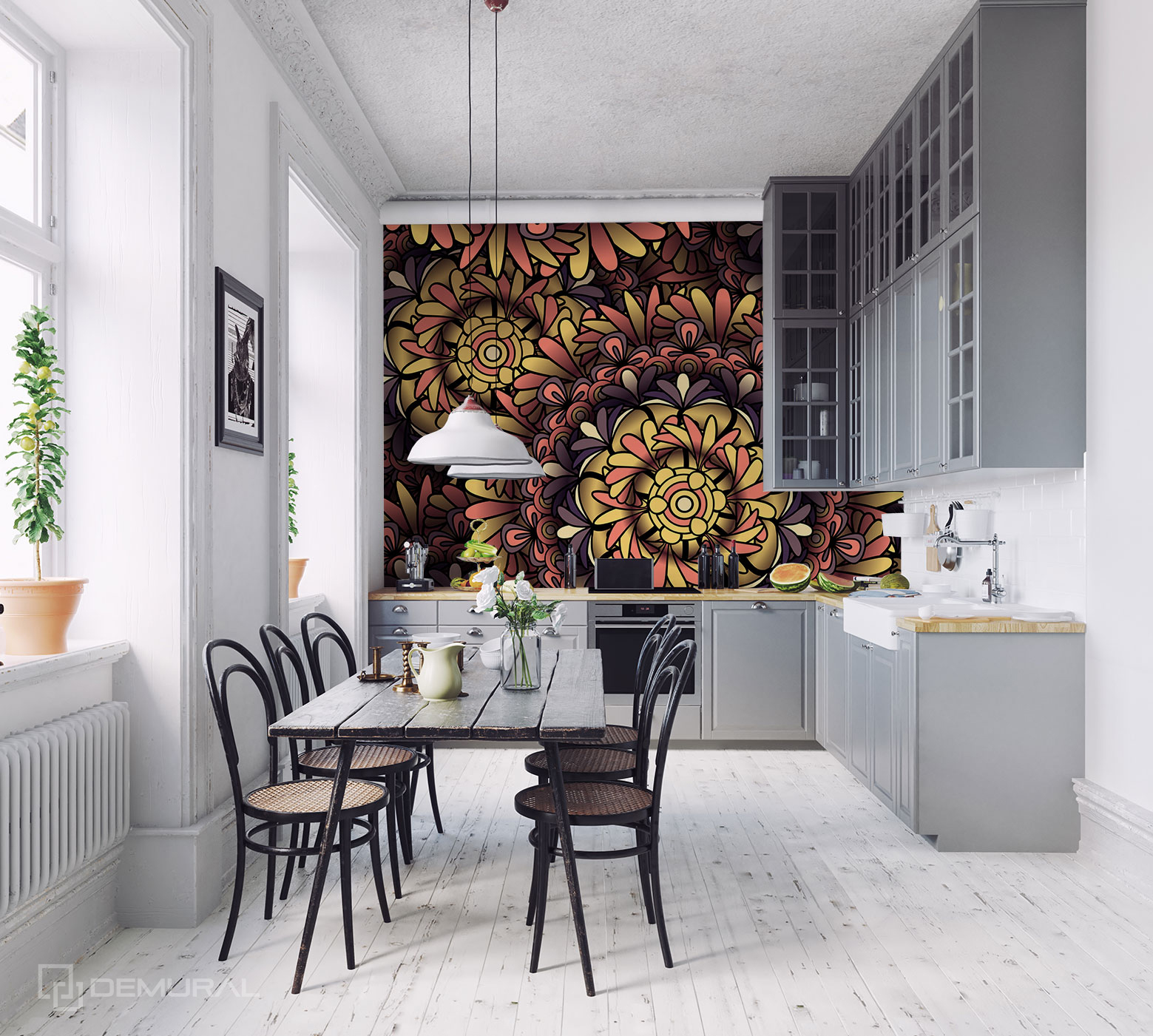Fototapete Ein stilvolles Mandala - Fototapete für große Küche - Demural