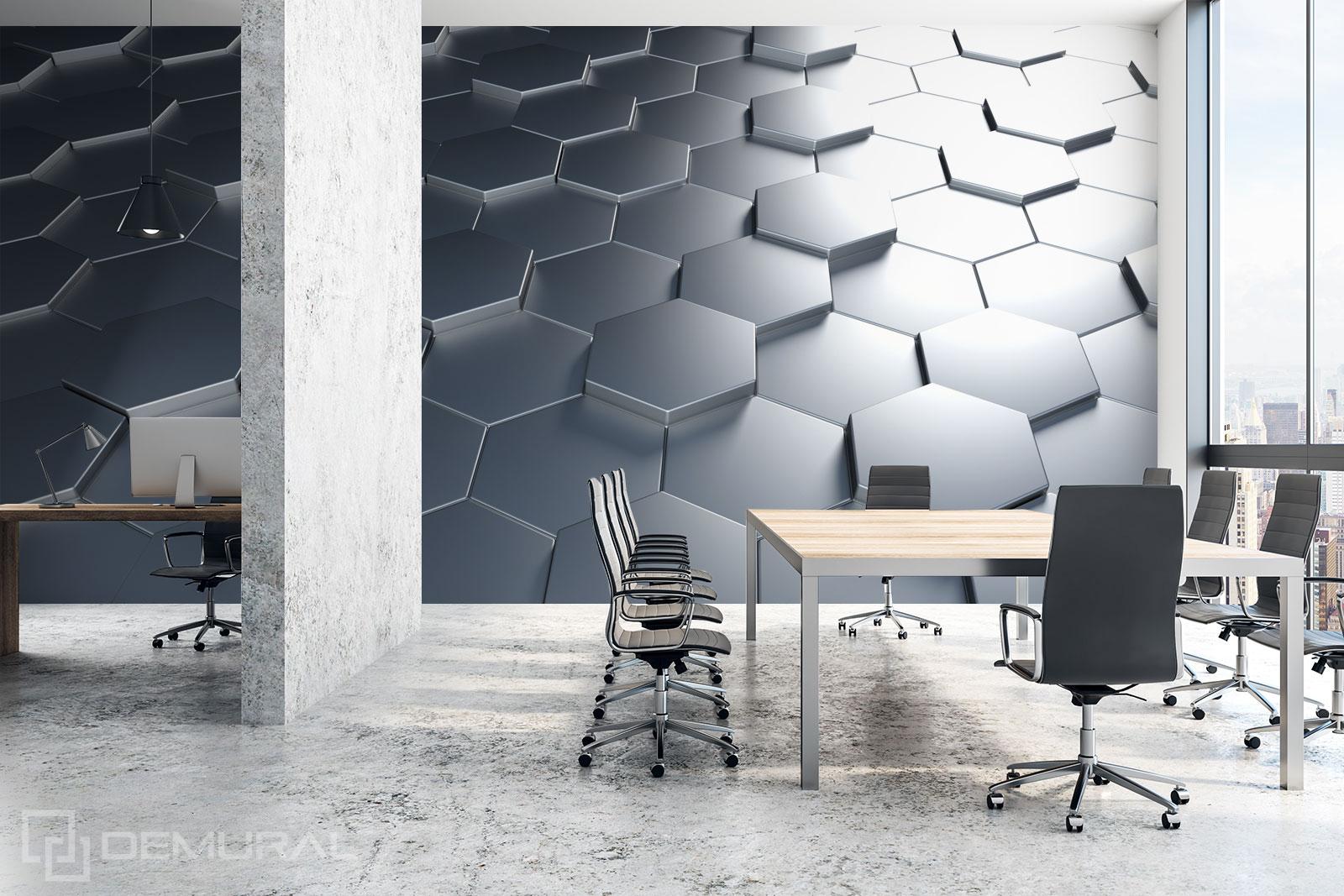 Fototapete 3D-Hexagone - 3D Fototapete - Demural