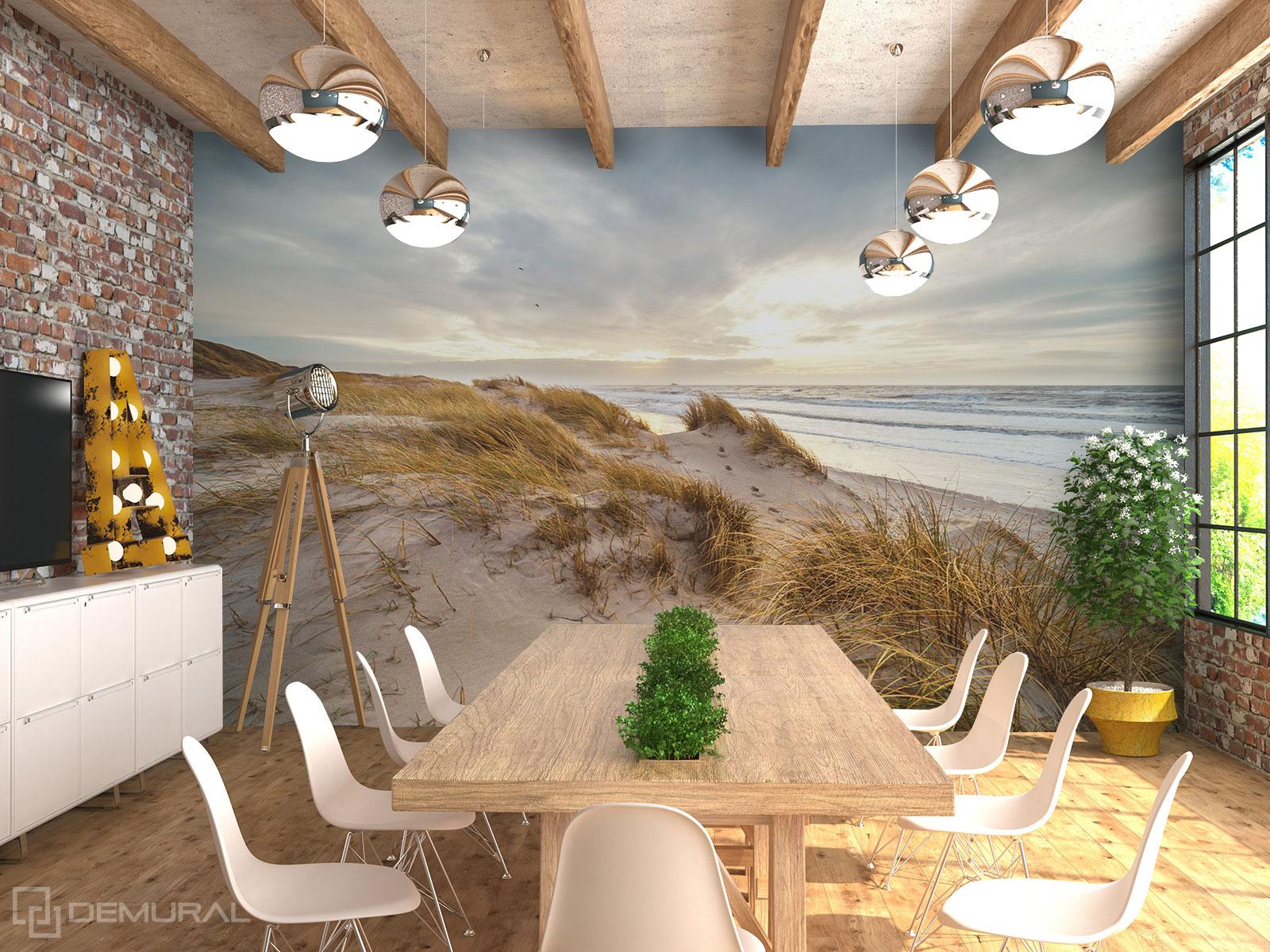 Fototapete Stilvolle Dünen - Meeresfototapete für Büro - Demural