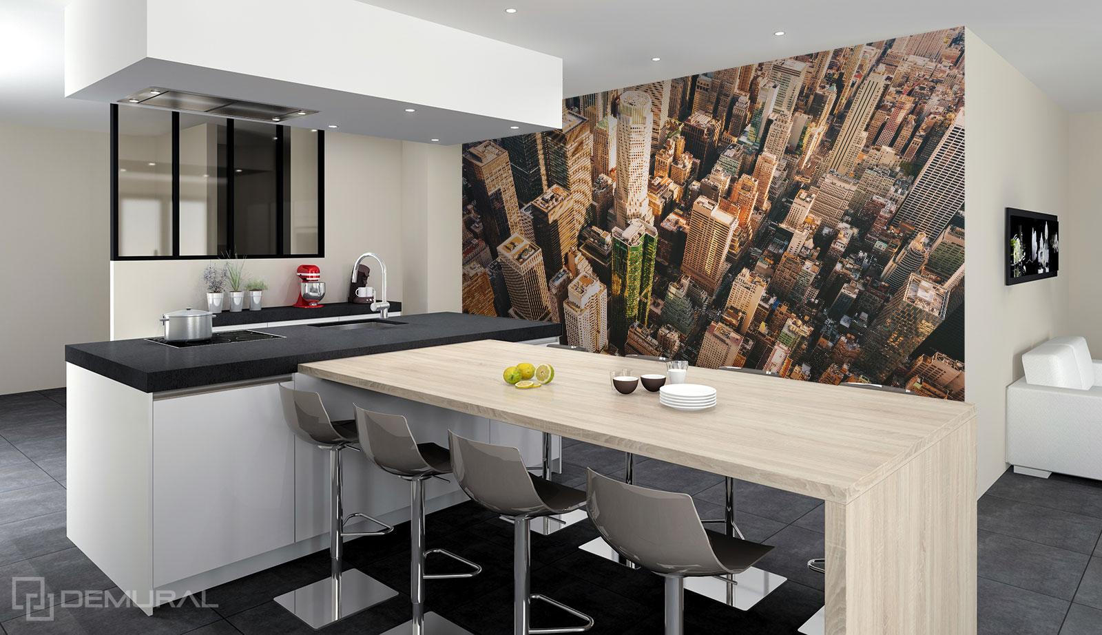 Fototapete Die Spitzen der Wolkenkratzer - Fototapete für große Küche - Demural