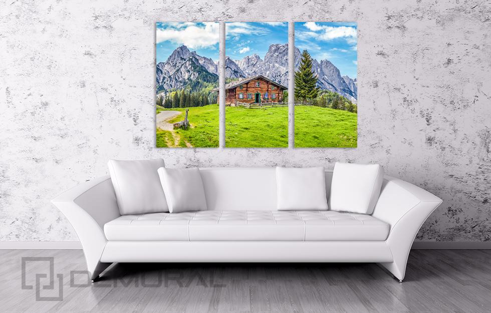 Wandbilder Landschaft B3D7 Bild Leinwand Bilder Panorama-Italienischen Alpen