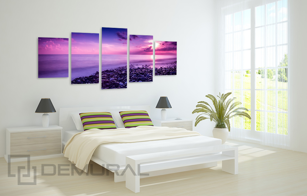 leinwand bilder sonnenaufgang foto bild wandbilder f rs schlafzimmer b5d144 ebay. Black Bedroom Furniture Sets. Home Design Ideas