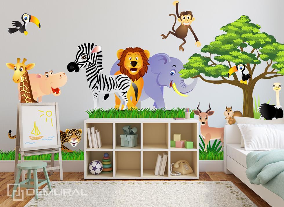 Wandtattoo Furs Kinderzimmer Baby Sticker Aufklebr Tiere Safari Sdb1 Ebay