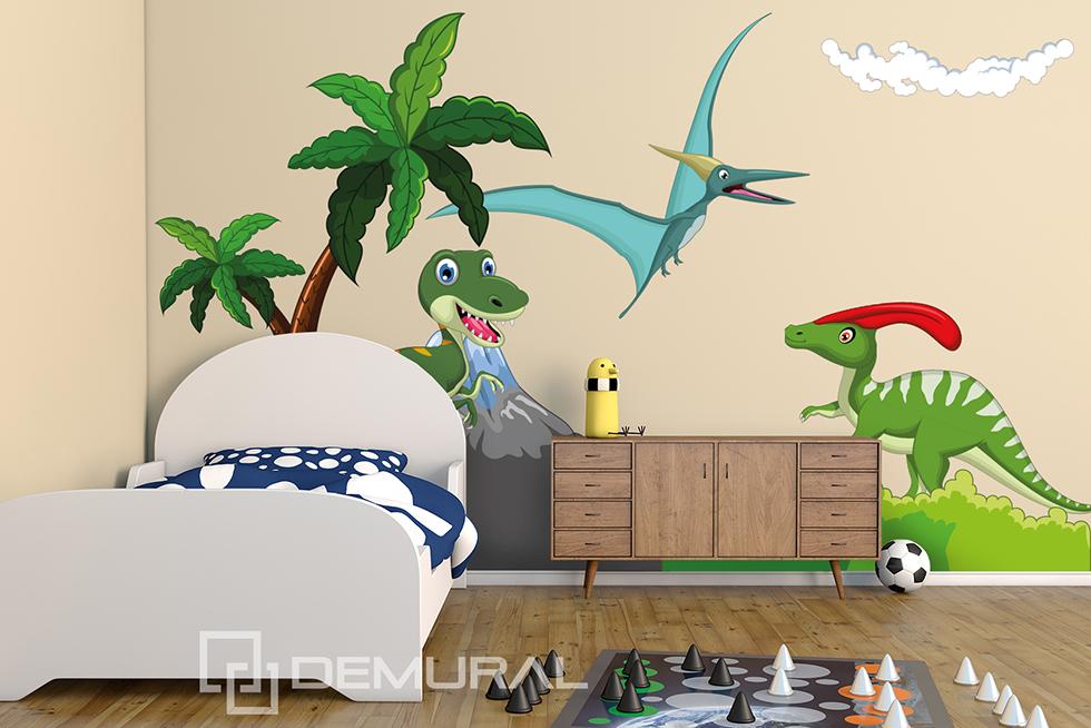 Wandtattoo Furs Kinderzimmer Baby Sticker Aufkleber Lustige Dinosaurier Sdb9 Ebay