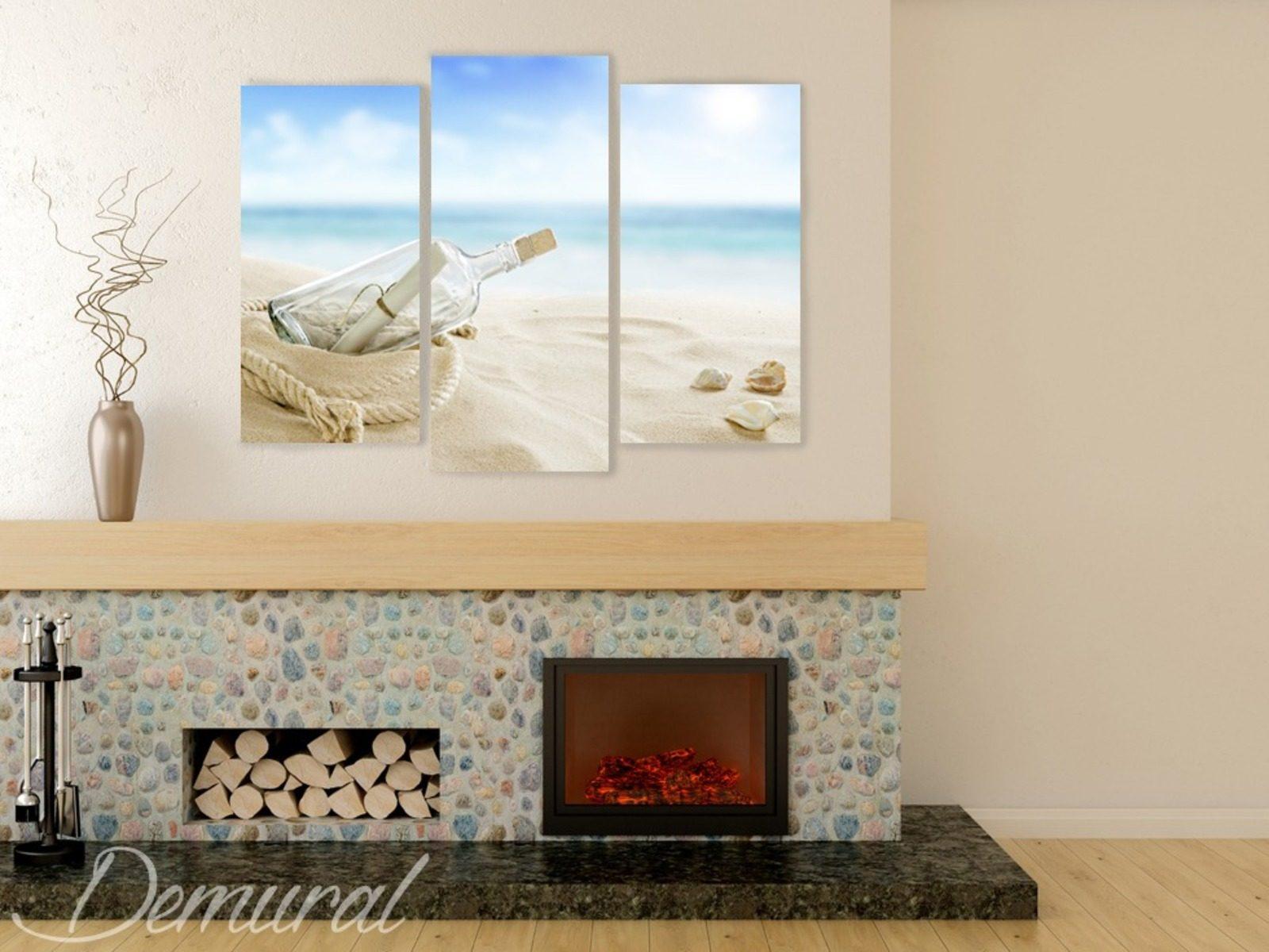 Seetrilogie - Bilder für Wohnzimmer - Bilder - Demural