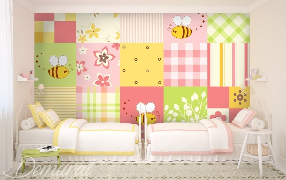 gro klein pachtwork fototapete f r kinderzimmer fototapeten demural. Black Bedroom Furniture Sets. Home Design Ideas