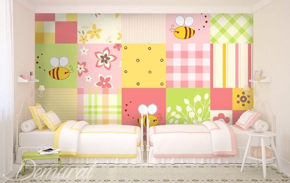 gro klein pachtwork fototapete f r kinderzimmer. Black Bedroom Furniture Sets. Home Design Ideas