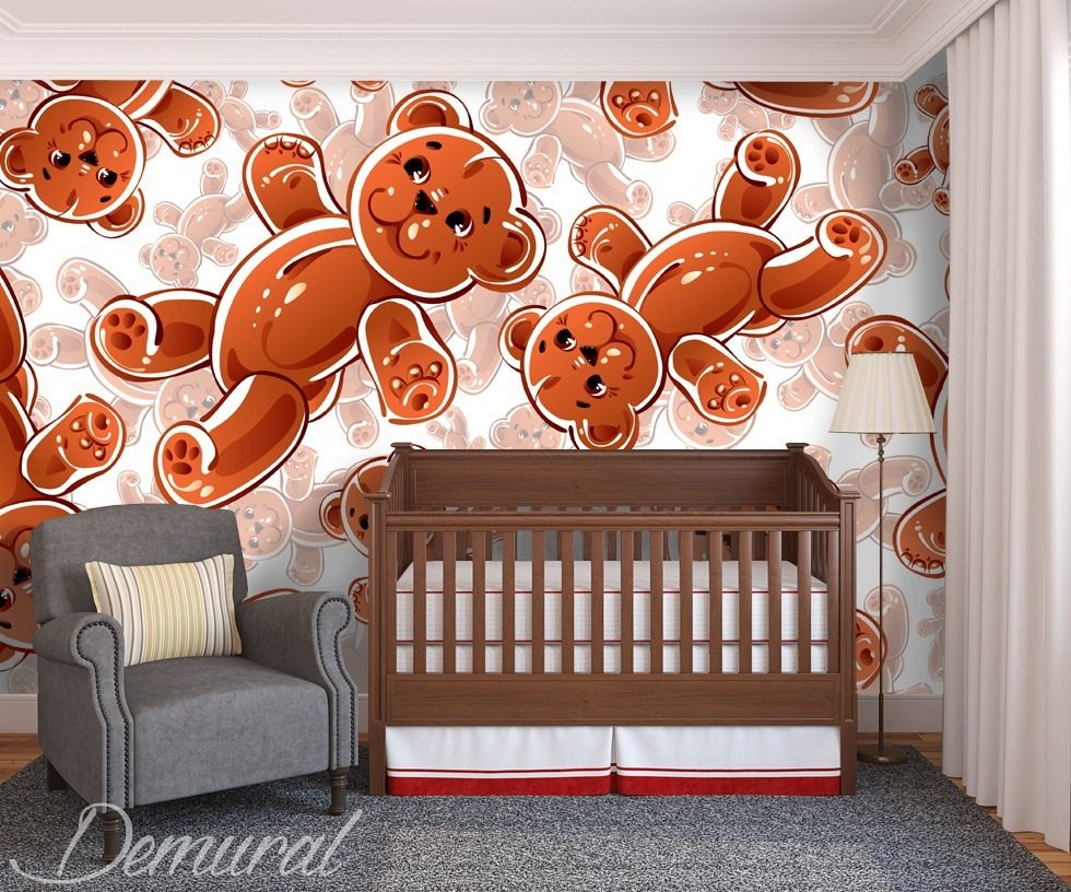 pluschb r fototapete f r kinderzimmer fototapeten demural. Black Bedroom Furniture Sets. Home Design Ideas