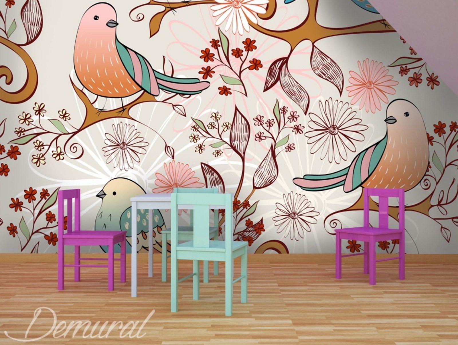 Fototapeten F?r Kinderzimmer : Birds Wall Mural