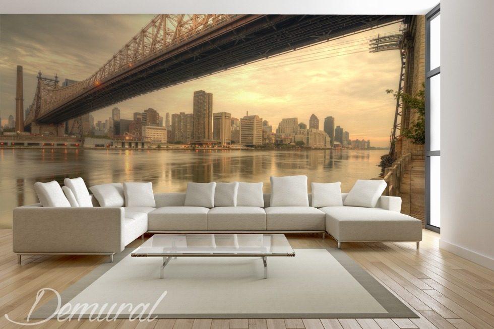 die sofas von new york fototapeten br cken fototapeten. Black Bedroom Furniture Sets. Home Design Ideas