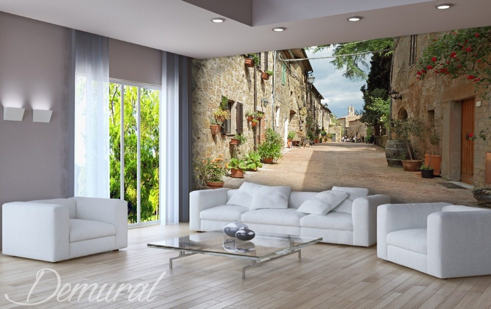 chill and out fototapeten gasse fototapeten demural. Black Bedroom Furniture Sets. Home Design Ideas