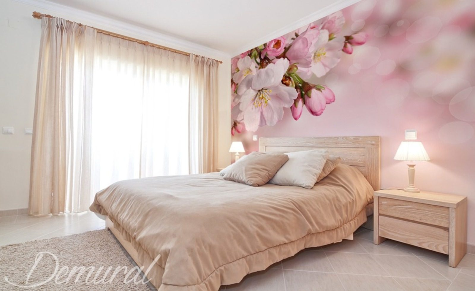 pastell love fototapeten blumen fototapeten demural. Black Bedroom Furniture Sets. Home Design Ideas