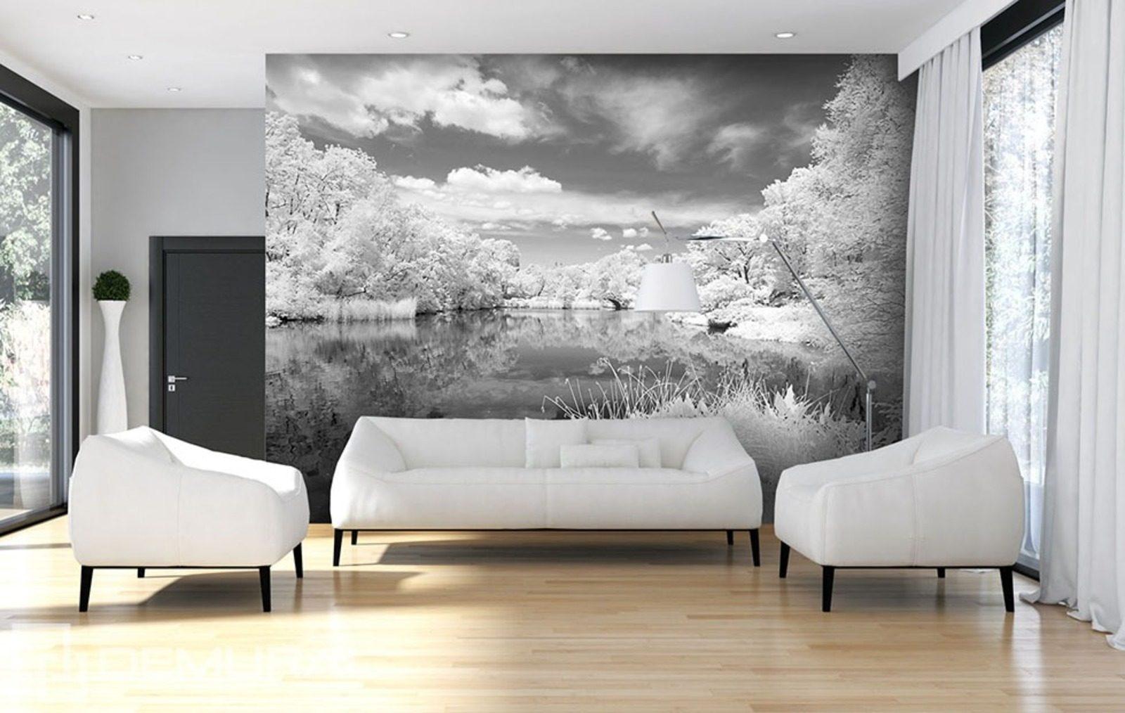 Fototapeten In Schwarz Wei? : Black and Grey Wall Murals