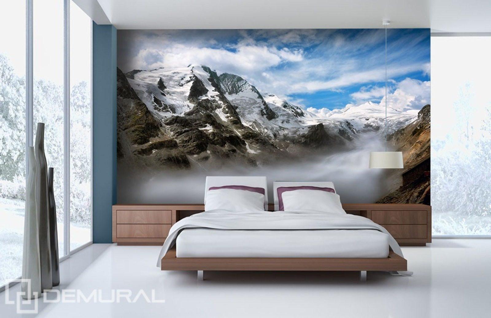 Fototapete vlies in den bergen tapete tapeten fototapeten for Wandtapete fur schlafzimmer