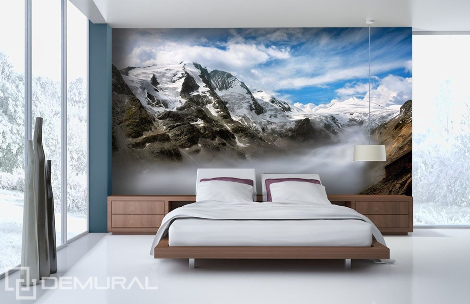 tal in den wolken fototapete f r schlafzimmer fototapeten demural. Black Bedroom Furniture Sets. Home Design Ideas