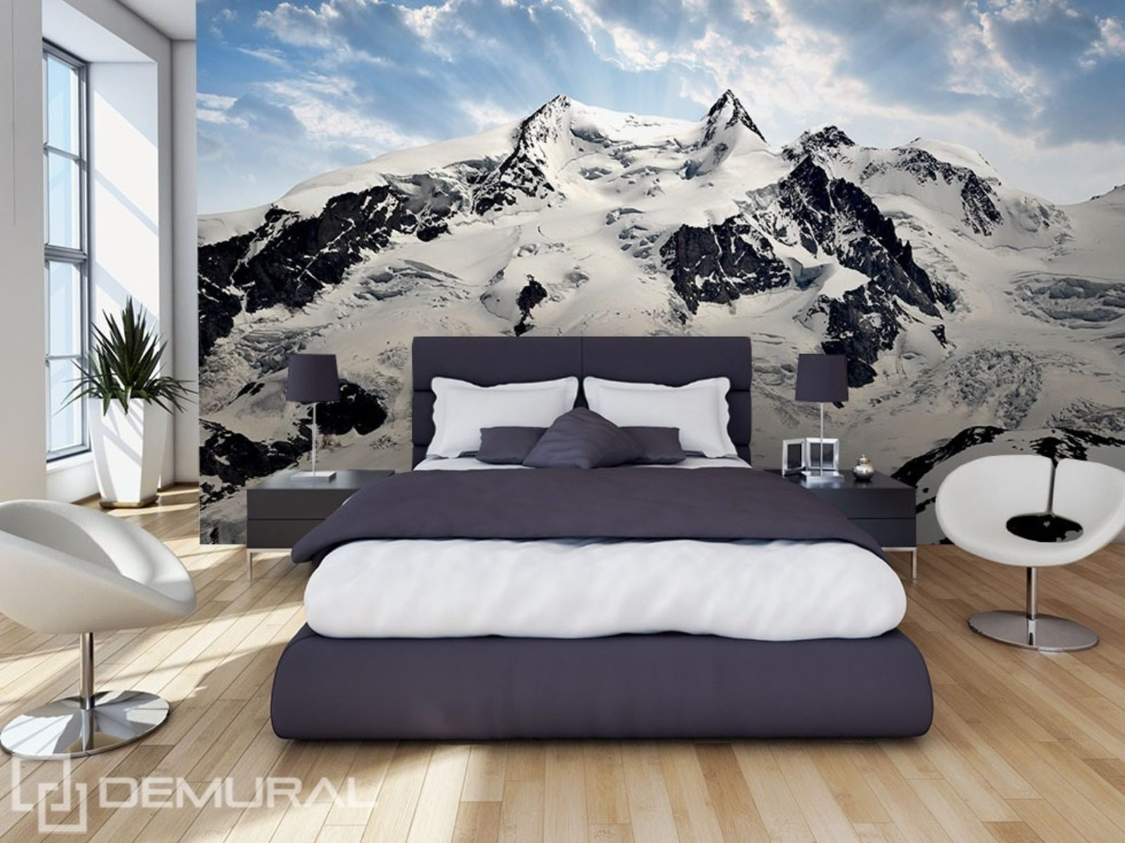 glanz ber die h gel fototapete f r schlafzimmer fototapeten demural. Black Bedroom Furniture Sets. Home Design Ideas