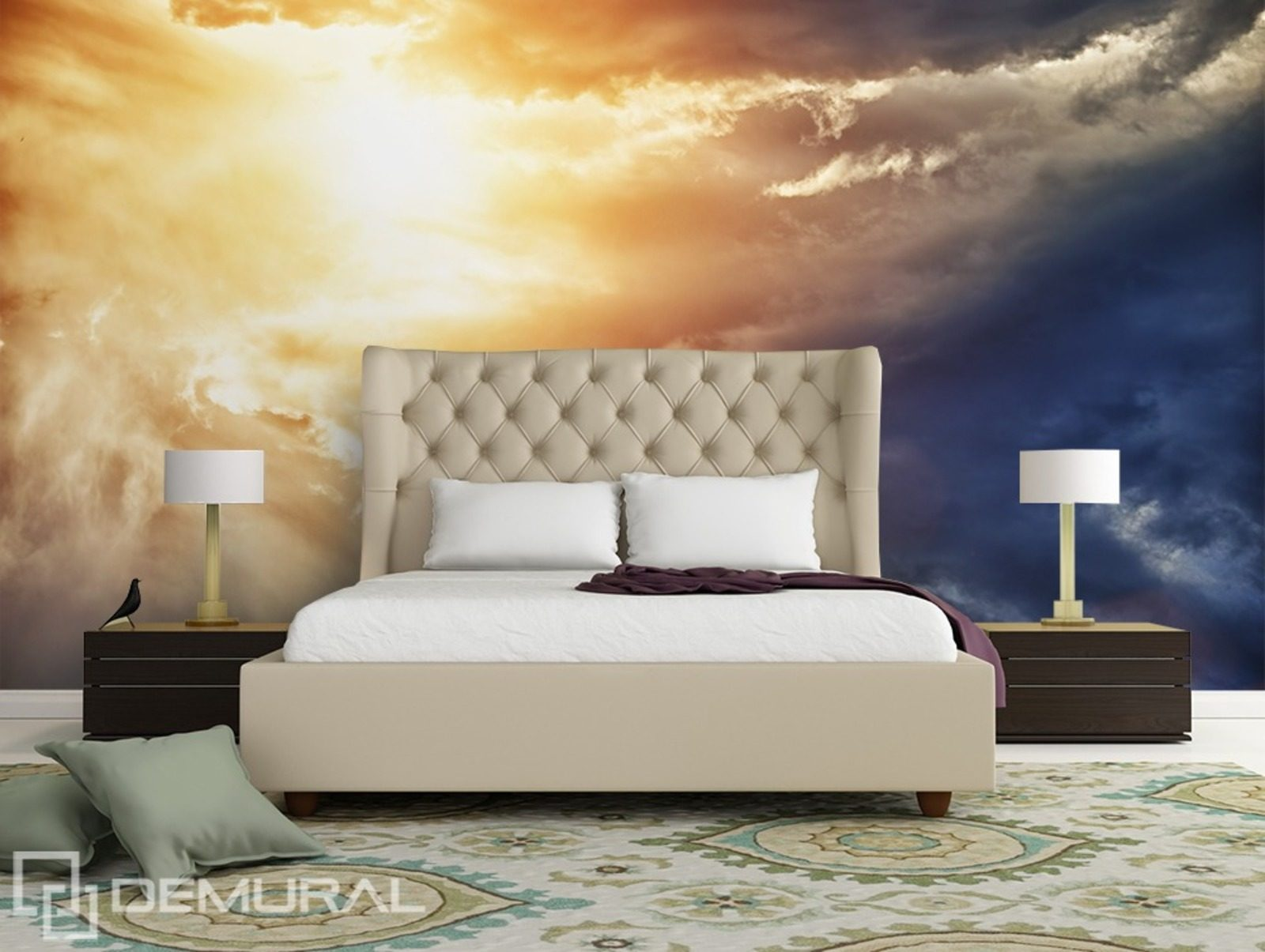 verr cktheit am himmel fototapete f r schlafzimmer fototapeten demural. Black Bedroom Furniture Sets. Home Design Ideas