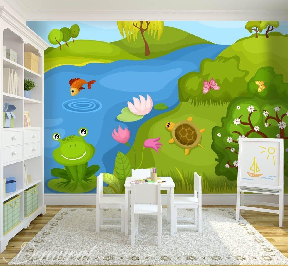 k ss das pf tchen des frosches fototapete f r. Black Bedroom Furniture Sets. Home Design Ideas