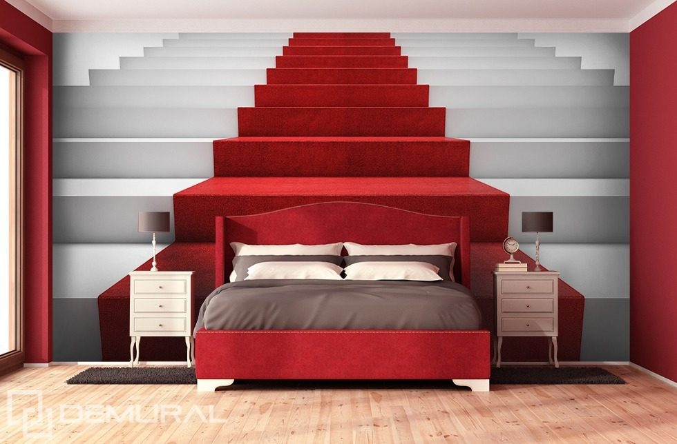 auf dem roten teppich fototapeten treppe fototapeten. Black Bedroom Furniture Sets. Home Design Ideas