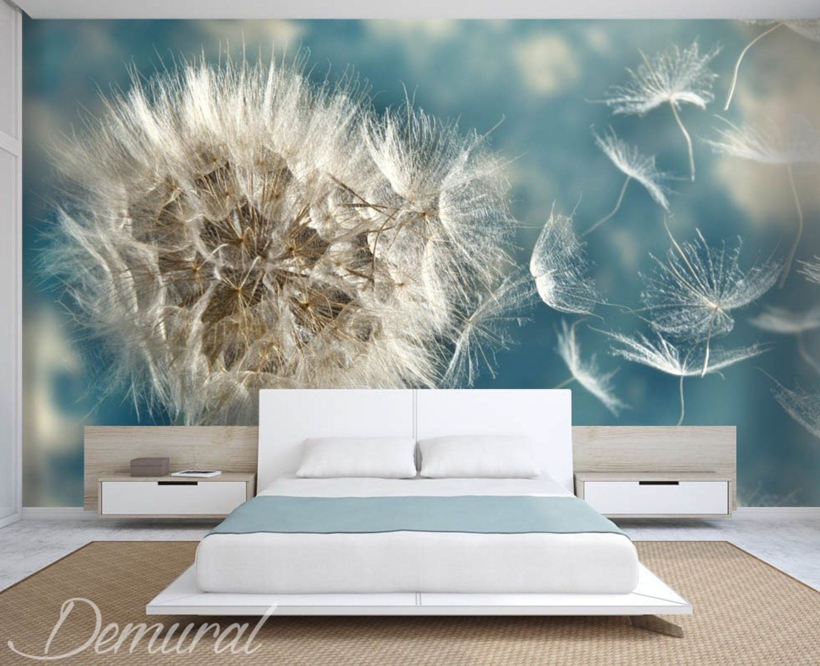 pusteblumen die in windrichtung geworfen werden fototapete mit pusteblume fototapeten demural. Black Bedroom Furniture Sets. Home Design Ideas
