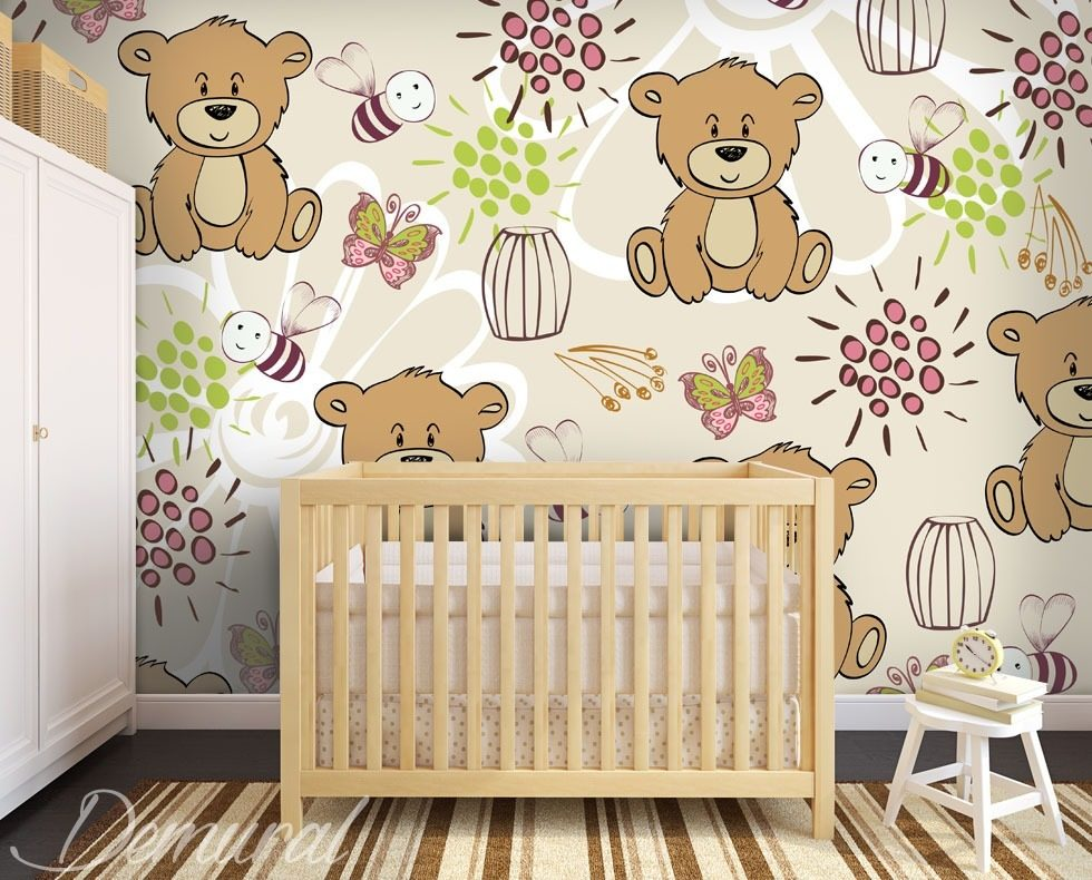 fliegende b rchen fototapete f r kinderzimmer fototapeten demural. Black Bedroom Furniture Sets. Home Design Ideas