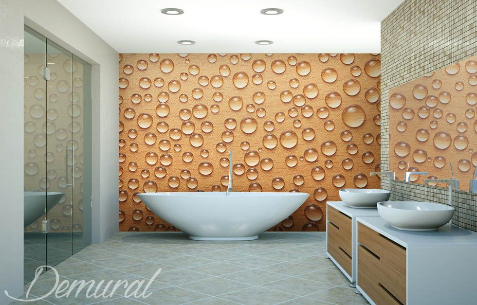 Bad im Schaum - Fototapeten für Badezimmer - Fototapeten - Demural
