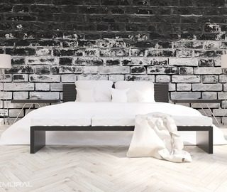 fototapeten schwarz und wei demural. Black Bedroom Furniture Sets. Home Design Ideas