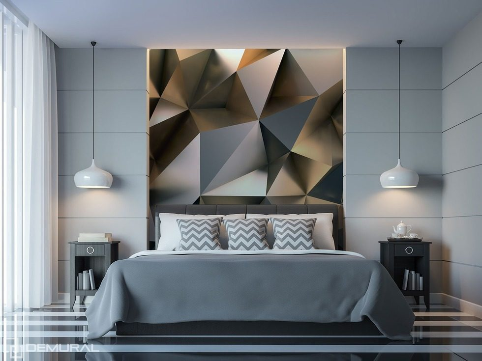 der geometrische mischmasch des berschwangs fototapete f r schlafzimmer fototapeten demural. Black Bedroom Furniture Sets. Home Design Ideas