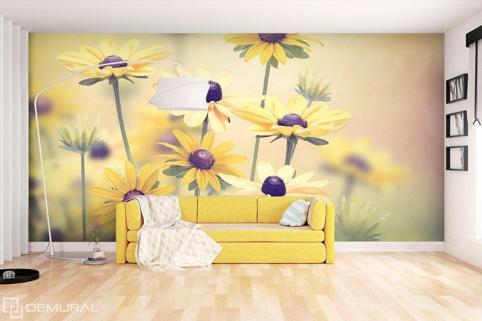 im l cheln so gelb wie die sonne fototapeten blumen fototapeten demural. Black Bedroom Furniture Sets. Home Design Ideas