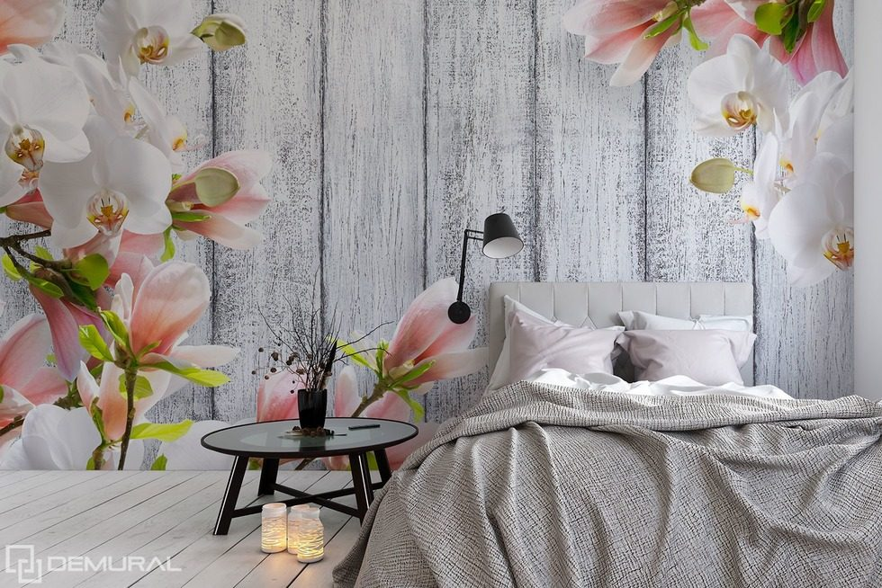 die mit blumen geschm ckten zartheit fototapeten blumen fototapeten demural. Black Bedroom Furniture Sets. Home Design Ideas