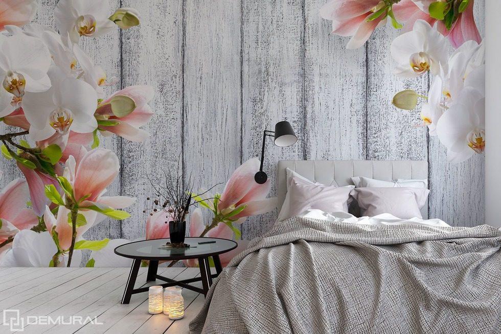 die mit blumen geschm ckten zartheit fototapeten blumen fototapeten demural. Black Bedroom Furniture Sets. Home Design Ideas