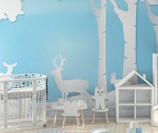 Eine Lichtung Voller Freude Fototapete Fur Kinderzimmer Fototapeten Demural